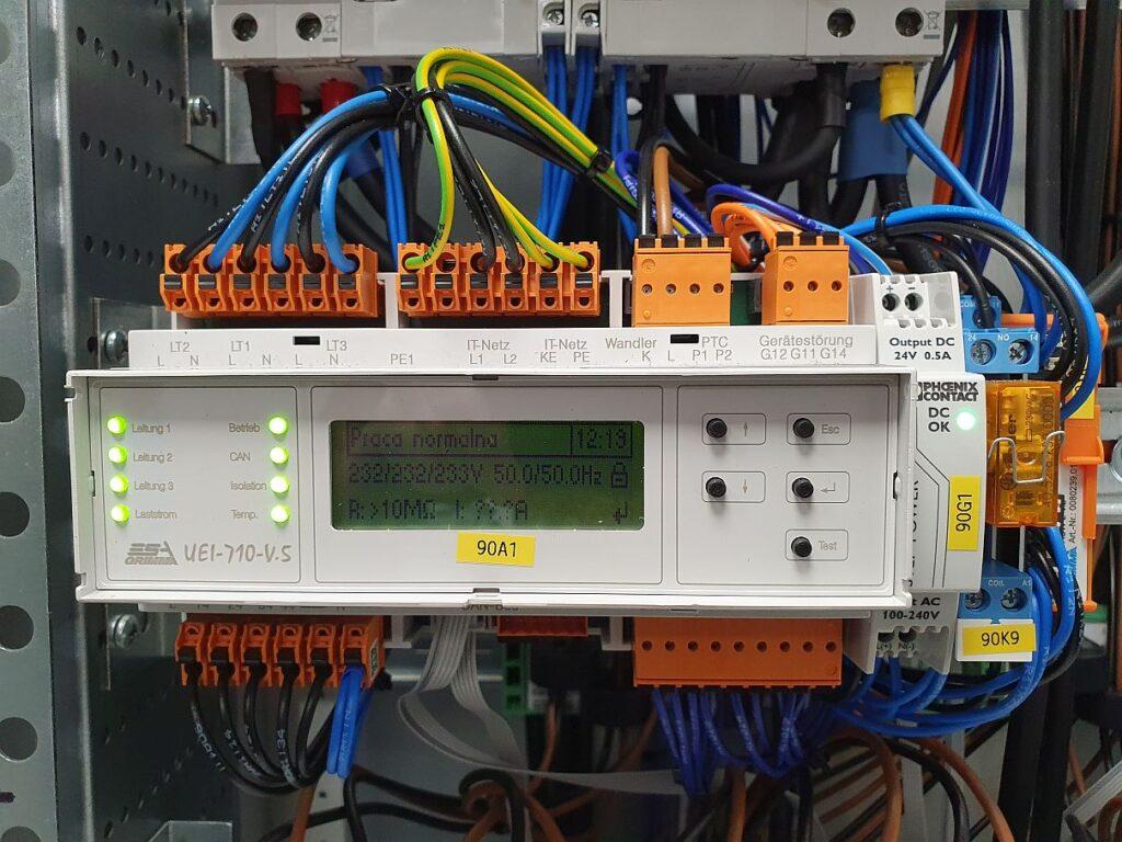 Rozdzielnice medyczne IT - urządzenie kontrolne UEI-710-V.5